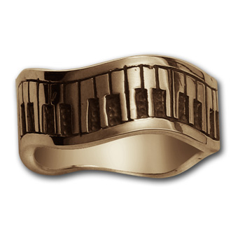 Piano Ring in 14k Gold