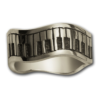 Piano Ring in Sterling Silver