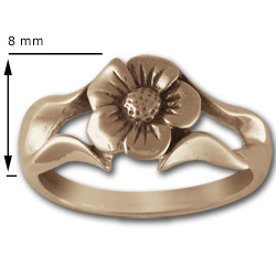 Perfect Petals Ring in 14k Gold