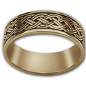 Celtic Wedding Band in 14k Gold