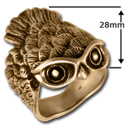 Owl Ring (Lg) in 14k Gold