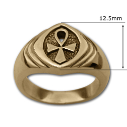 Ankh Ring (Sm) in 14k Gold