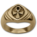 Ankh Ring (Lg) in 14k Gold