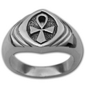 Ankh Ring (Lg) in Sterling Silver