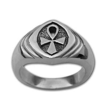 Ankh Ring (Sm) in Sterling Silver
