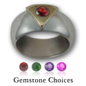 Gemstone Pride Ring in Silver & Gold