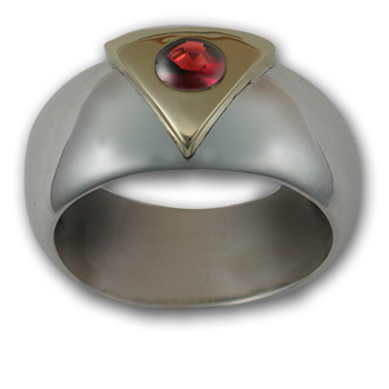 Gemstone Pride Ring in White & Yellow Gold