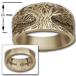 Tree of Life Ring in 14k Gold