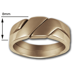 Puzzle Ring (Lg) in 14k Gold