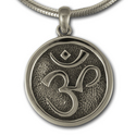 Om Pendant in Sterling Silver