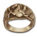 Pegasus Ring in 14k Gold