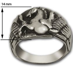 Pegasus Ring in Sterling Silver