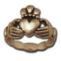 Claddagh Wedding Ring (Lg) in 14k Gold