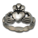 Claddagh Wedding Ring (Lg) in Sterling Silver