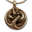 Ouroboros Pendant in 14k Gold