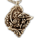 Gryphon Pendant in 14k Gold