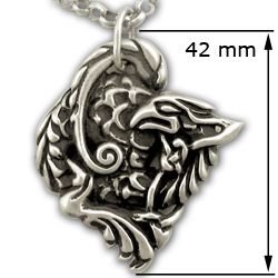 Gryphon Pendant in Sterling Silver