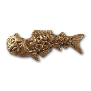 """Catfish"" Pin in 14k Gold"
