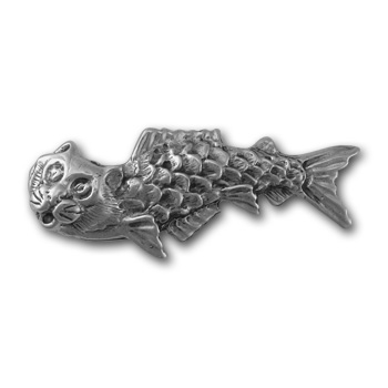 """Catfish"" Pin in Sterling Silver"