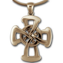 Large Celtic Cross Pendant in 14k Gold