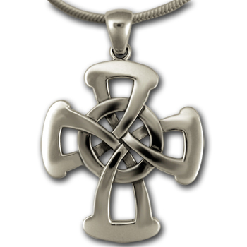 Large Celtic Cross Pendant in Sterling Silver