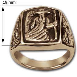 Odin Ring in 14k Gold