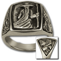 Odin Ring in Sterling Silver