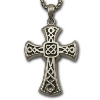 Heavy Celtic Cross Pendant in Sterling Silver