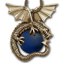 Huge Men's Dragon Pendant in 14k Gold