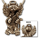 Kitty Angel Pendant in 14k Gold