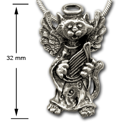 Kitty Angel Pendant in Sterling Silver