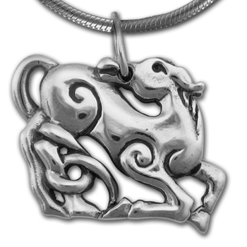 Scythian Horse Pendant in Sterling Silver