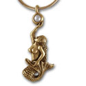 Mermaid Pendant in 14k Gold