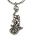 Mermaid Pendant in Sterling Silver