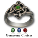 Celtic Twist of Fate Ring in Silver & Gold