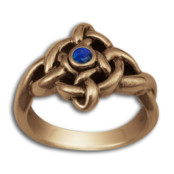 Celtic Twist of Fate Ring in 14k Gold