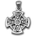Celtic Mirror Cross Pendant in Sterling Silver