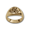 Triskele Ring in 14k Gold