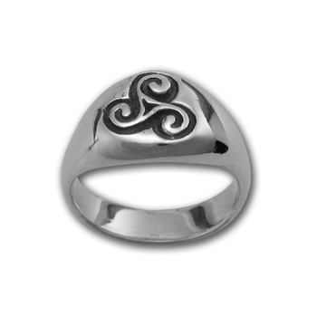 Triskele Ring in Sterling Silver