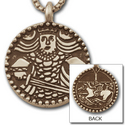 Viking King Medallion in 14k Gold