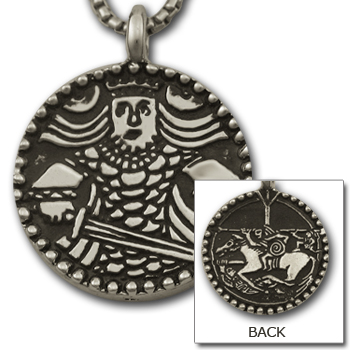 Viking King Medallion in Sterling Silver