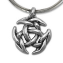 Sculptural Triskele Pendant in Sterling Silver