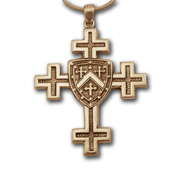 Jerusalem Cross Pendant in 14k Gold