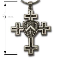 Jerusalem Cross Pendant (Sm) in Sterling Silver