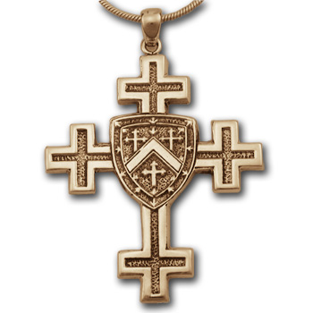 Jerusalem Cross Pendant (Lg) in 14k Gold