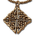 Celtic Knot Pendant in 14k Gold
