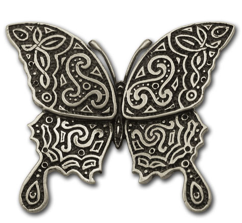 Celtic Butterfly Brooch in Sterling Silver
