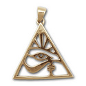 Eye of Horus Pendant in 14K Gold