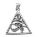 Eye of Horus Pendant in Sterling Silver