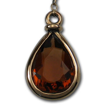 Maderia Citrine Pendant in 14k Gold